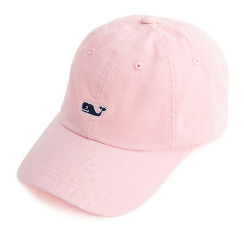 Vineyard Vines Signature Whale Logo Baseball Hat- Flamingo