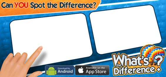 I can't get enough #WhatsTheDifference! Play free on iOS or Android: http://WhatsTheDifferenceApp.com