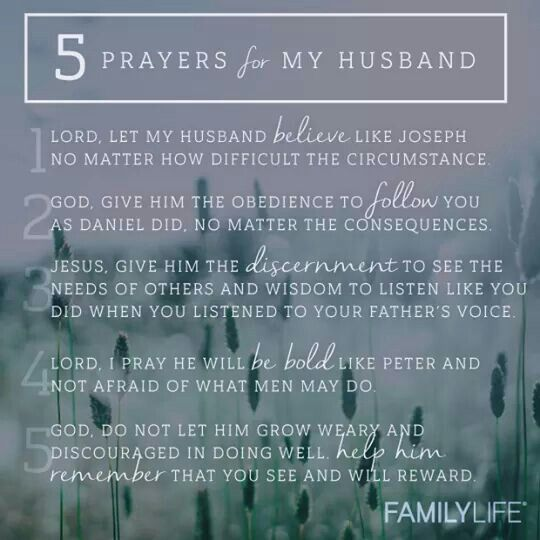 Prayer for a god fearing husband