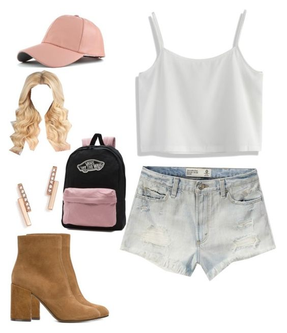 """Pink💗💗💗"" by kaya-mcewen ❤ liked on Polyvore featuring Abercrombie & Fitch, Chicwish, L'Autre Chose, WithChic, ZoÃ« Chicco and Vans"