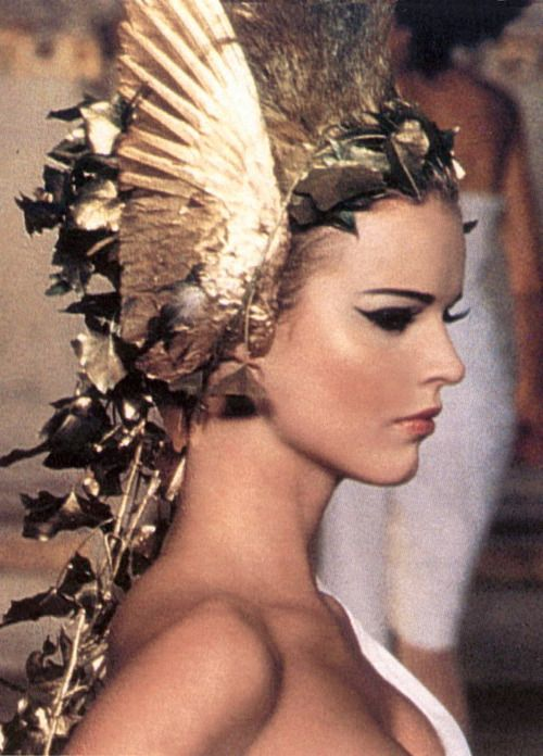 Stunning. (Eva Herzigova at Givenchy Haute Couture Spring/Summer 1997, by Alexander McQueen.):