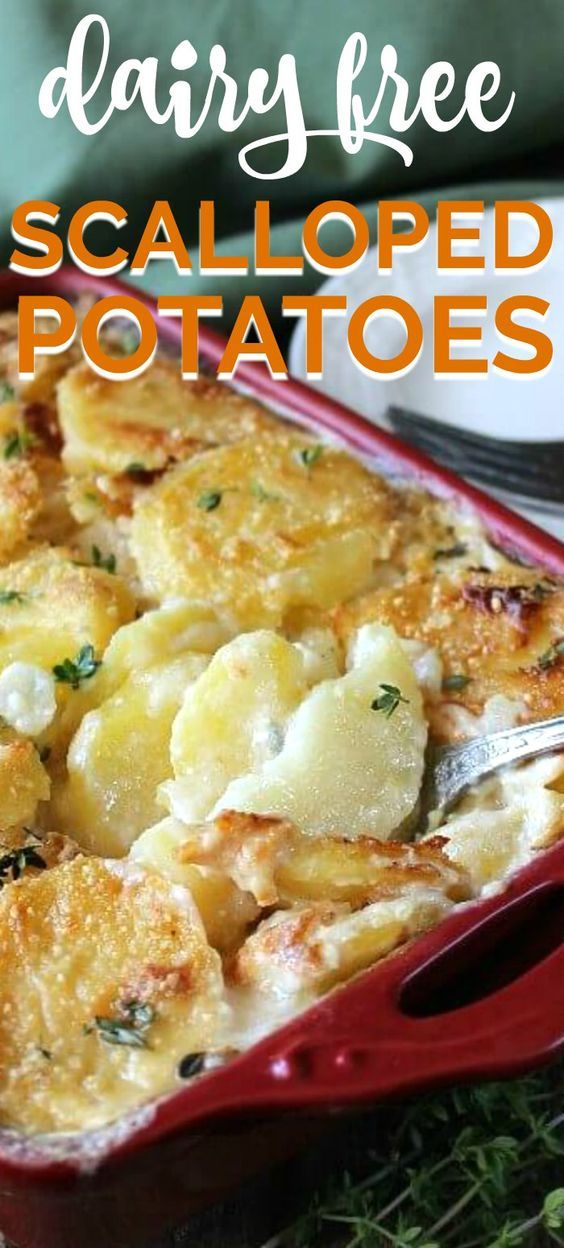 Vegan Scalloped Potatoes In 2020 Dairy Free Recipes Dairy Free Thanksgiving Recipes Vegan Scalloped Potatoes