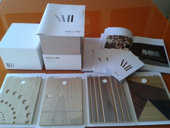Muestras de madera. Cajas de Raclima 2
