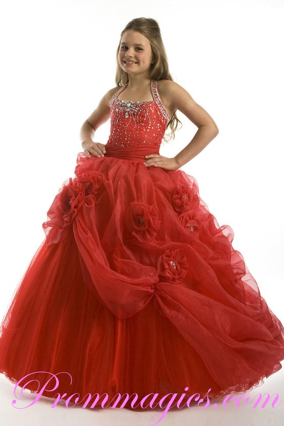 pageant dresses for girls 7-16  prom dresses little girl prom ...