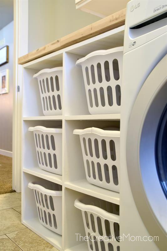 Laundry Basket Shelf Buildsomething Com Laundry Basket Shelves