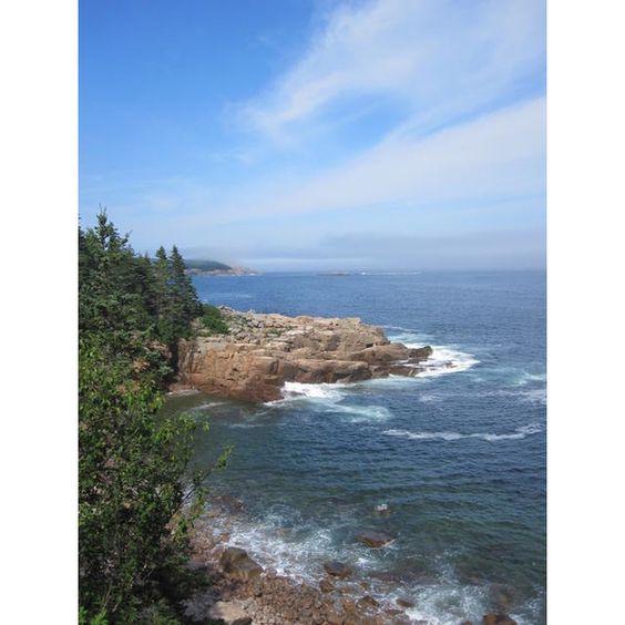 Maine Bar Harbor Acadia National Park ❤ liked on Polyvore