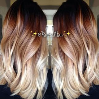 Color melt! i really love this it's the perfect ombre i might do this if somebody could get the perfect ratio of light and dark on my short hair