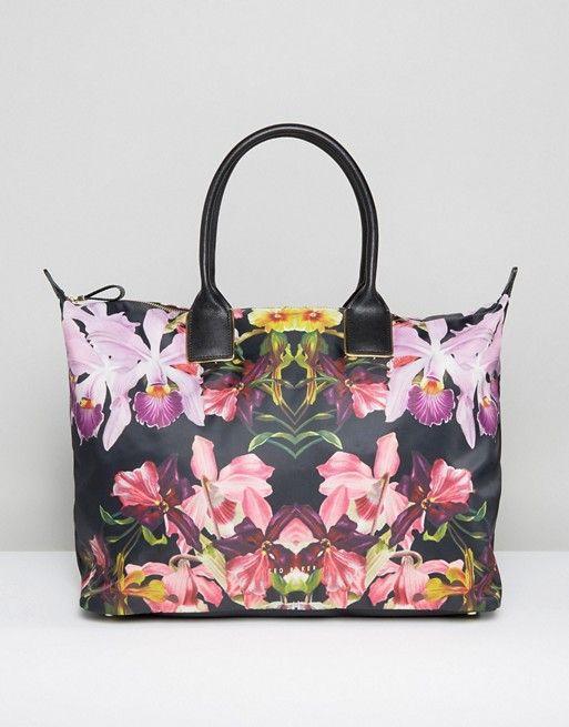 ted baker floral print weekender bag ted baker pinterest. Black Bedroom Furniture Sets. Home Design Ideas