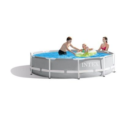 Intex 10 X 30 Prism Frame Large Metal Above Ground Round Outdoor Swimming Pool Easy Set Pools Intex Above Ground Swimming Pools
