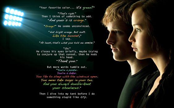 Peetnis *-* Esse trecho do livro A Esperança é emocionante, ver a garota ''durona'' passar esse conforto para ele depois de tudo q ele passou na capital. Lindo T-T