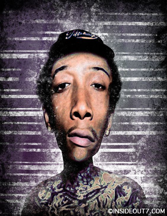 Wiz Khalifa - Distortrait by Eric Harydzak