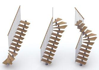 escalier milano h tre lamell coll m tal modulable 1 4. Black Bedroom Furniture Sets. Home Design Ideas