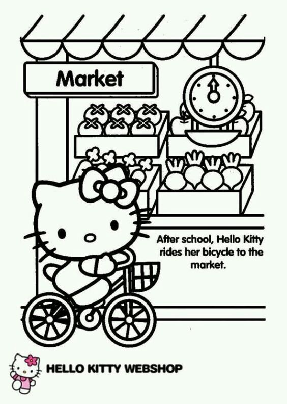 Pin By Hazel Her On Kitty Hello Hello Kitty Coloring Kitty Coloring Hello Kitty Drawing