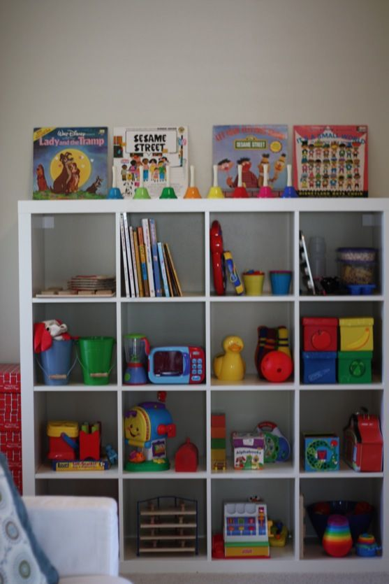 Toy storage- expedit bookcase from ikea