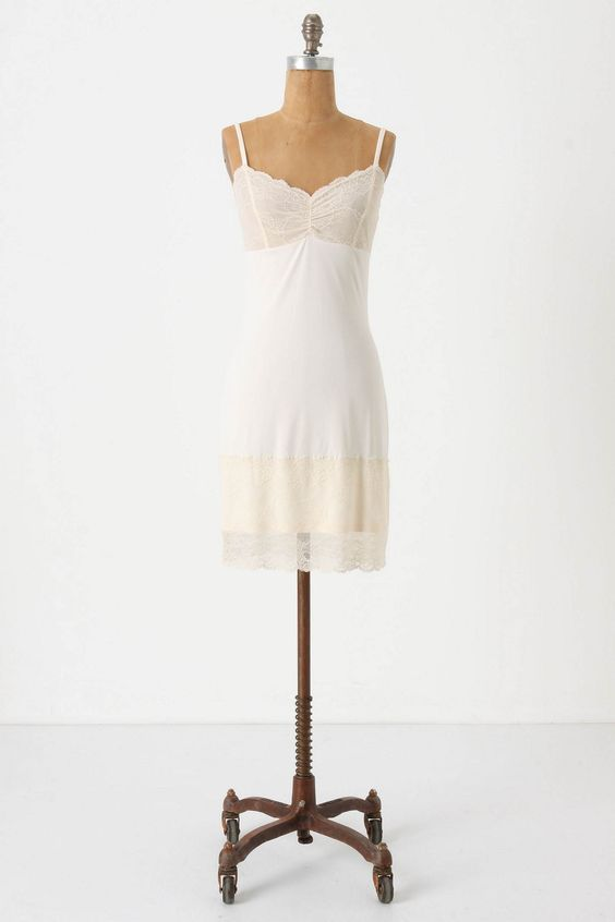 lace edged slip for underneath spring dresses