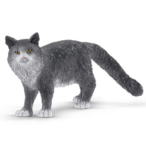 Schleich Cat Standing Black//White Pet Figure Toy Figure 13770 NEW