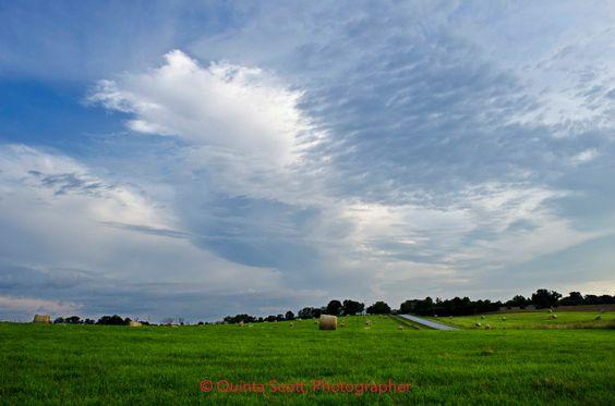 Hay Rolls at Sunset: East, Landscape Photograph by Quinta Scott, Farm Landscape, Fine Art Photograph, Missouri Ozarks, Cattle Ranch by QuintaScottPhoto on Etsy