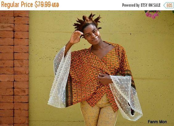 20 % de réduction africaine impression dentelle kimono par FanmMon