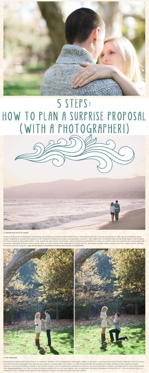 How to plan a surprise marriage proposal (with a professional photographer) in 5 steps!  // engagement photography // J Wiley Photography