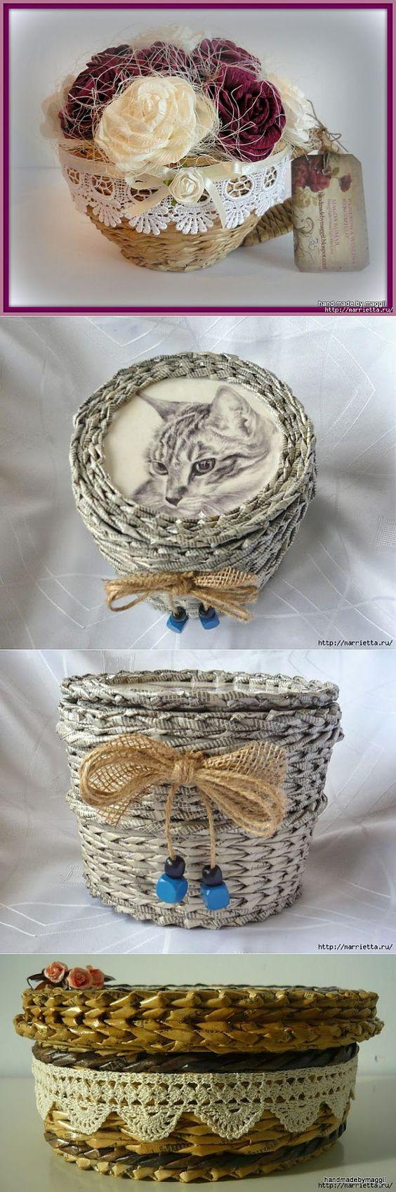 пошаговая инструкция по плетению квадратных корзин