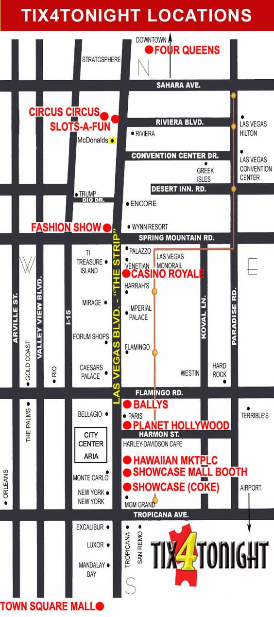 las vegas strip map plaza hotel
