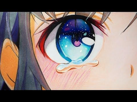 How To Draw Anime Eyes With Tears Step By Step Youtube Anime Eyes How To Draw Anime Eyes Anime Drawings
