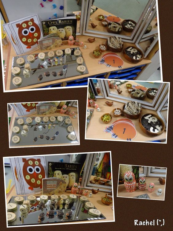 "Owl and hedgehog fun by Rachel ("",)"