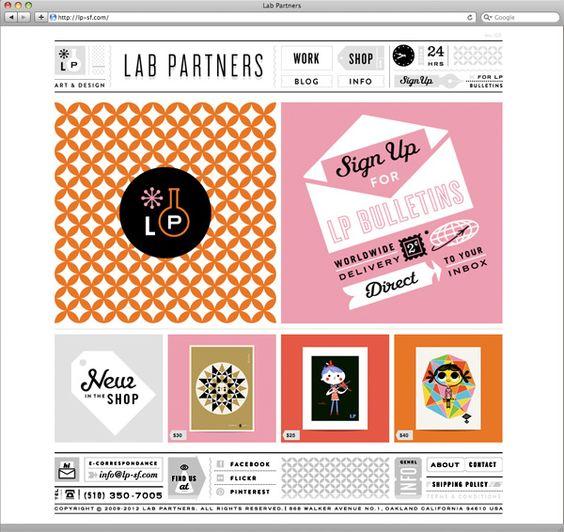 Lab Partners website & shop