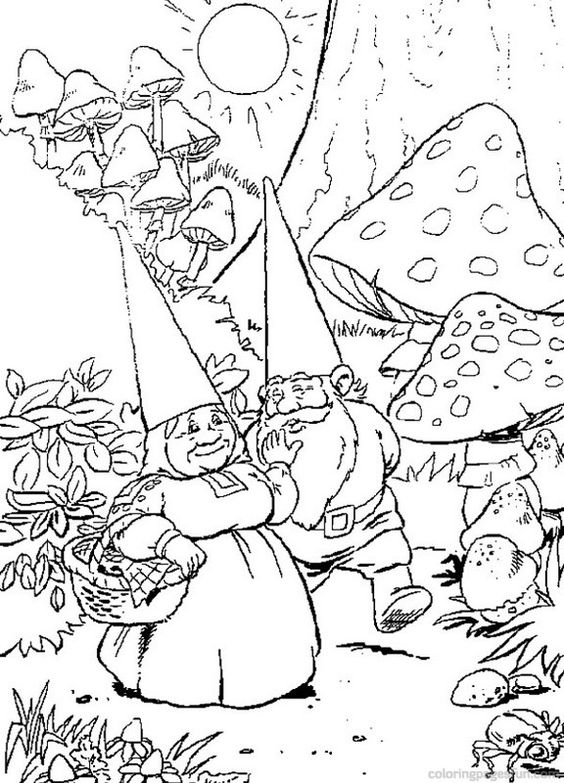 christmas gnome coloring pages - photo#4