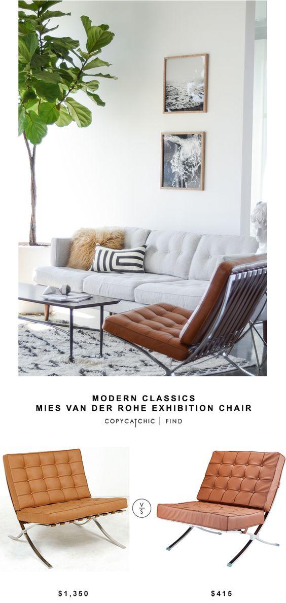 Modern Classics Mies van der Rohe Exhibition Chair