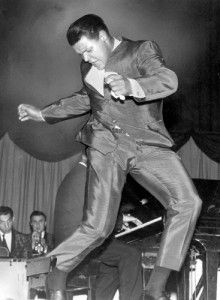 """Singer Chubby Checkers does """"The Twist"""" on the Dick Clark show ~1958~♛"""
