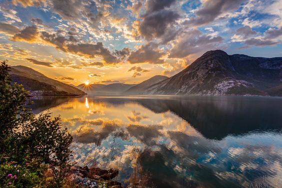 Sunrise Fjord by Jan Kenneth Aarsund on 500px