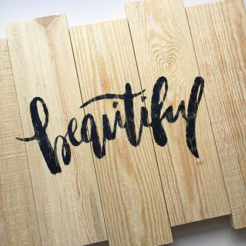 Beautiful - DIY Home Decor wood pallet projects featuring Jillibean Soup Mix the Media wood plank surfaces