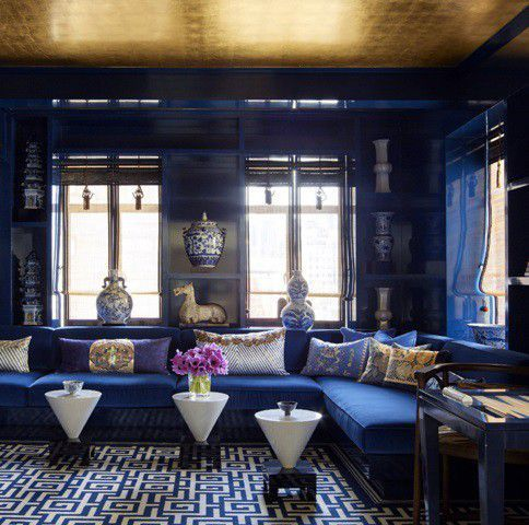 7 Ceiling Design Ideas That Will Blow Your Mind Blue Rooms Gold
