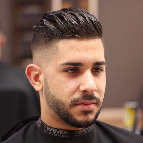 Men Slicked Back Hairstyle