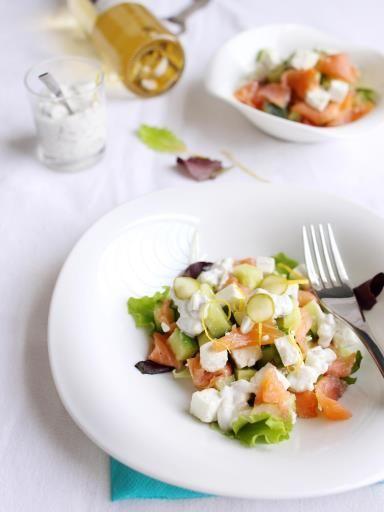 Recette Salade au saumon fumé, notre recette Salade au saumon fumé - aufeminin.com
