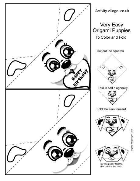 origami  worksheets and dogs on pinterest