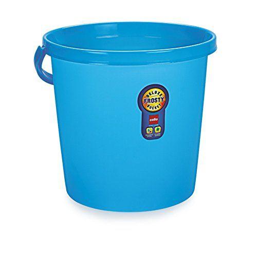 Cello Plastic Frosty Bucket Delux Blue 20 Litre Plastic Buckets Bucket Frosty