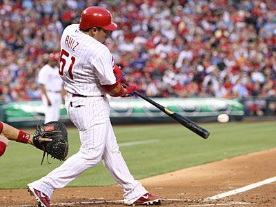 Carlos Ruiz is headed to his first All-Star Game. (Steven M. Falk/Staff Photographer)