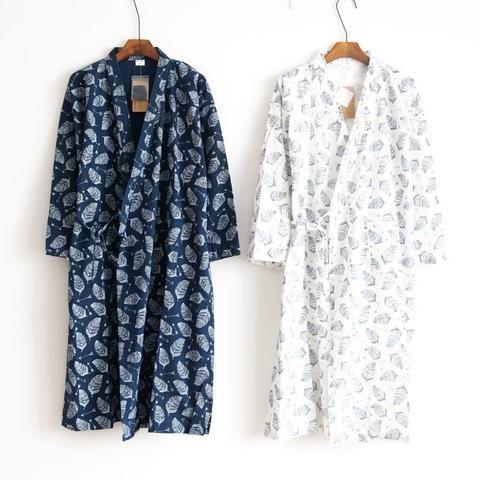 Mens Comfy Long-Sleeved Silk Satin Pajama Bathrobe Nightgown Sleepwear Home Robe