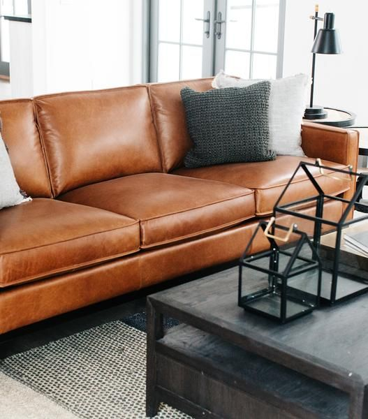 Image Of Paladin Couch Full Grain Leather Sofa Leather Sofa Living Room Leather Sofa