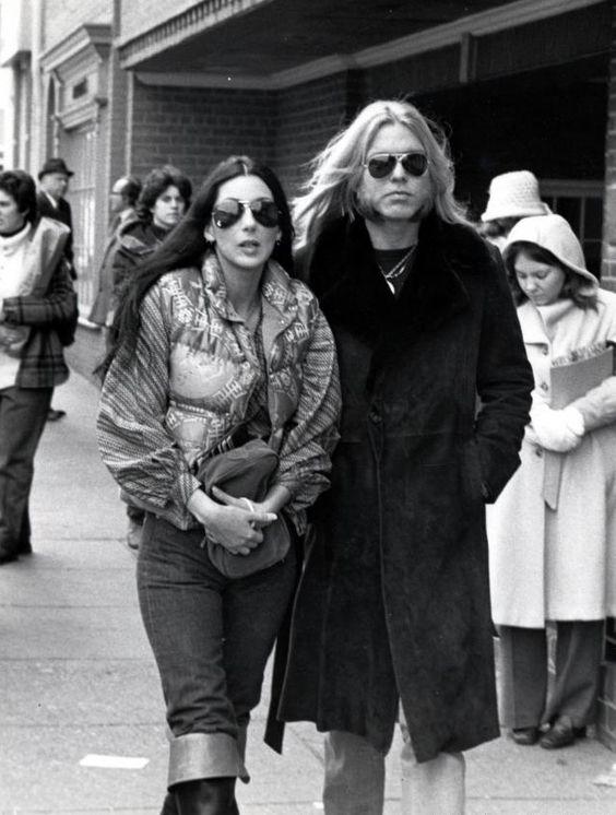 June 30, 1975– Gregg Allman & Cher's wedding photos.