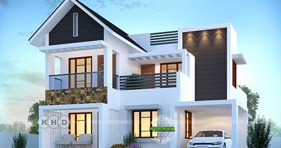 1830 Sq Ft 4 Bedroom Beautiful Modern House In 2020 Kerala House
