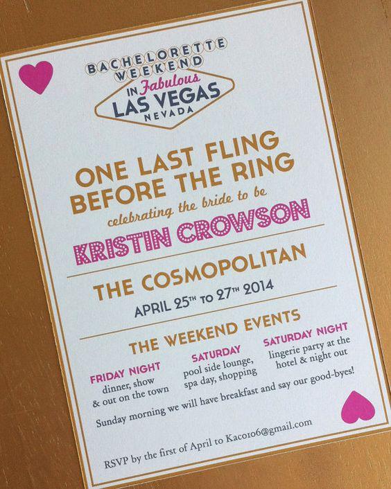 Bachelorette Party in Vegas by LittleCrowStudio on Etsy, $25.00