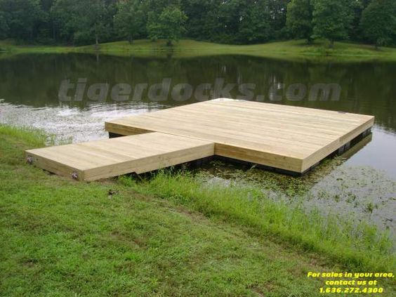 Nothing too fancy, just a small wood floating dock for fishin or chillin -: