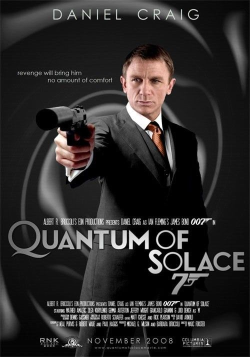 Quantum Of Solace 2008 With Images James Bond Movie Posters