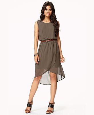 Fun summer piece. Georgette Shift Dress w/ Belt - FOREVER21 ...