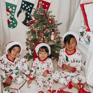 Grinch Flannel Family Christmas Pajamas Pottery Barn Kids In 2020 Family Christmas Pajamas Organic Flannel Christmas Pjs