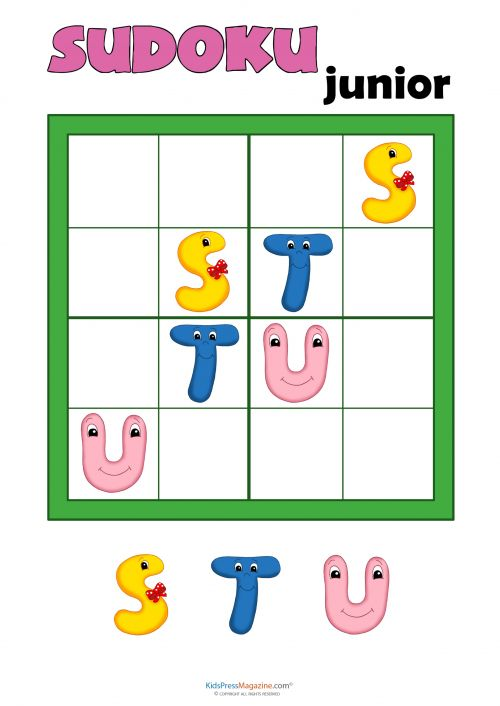 sudoku for kids letters 2