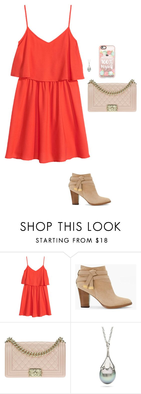 """""""Untitled #30"""" by mia-tox ❤ liked on Polyvore featuring H&M, White House Black Market, Chanel and Casetify"""